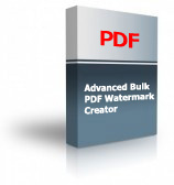 Advanced Bulk PDF Watermark Creator Product Box