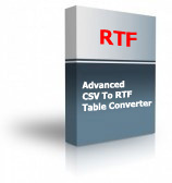 Advanced CSV To RTF Table Converter Product Box