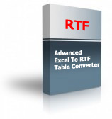 Advanced Excel To RTF Table Converter Product Box