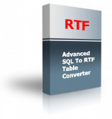 Advanced SQL To RTF Table Converter Product Box