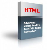Advanced Visual FoxPro To HTML Table Converter Product Box