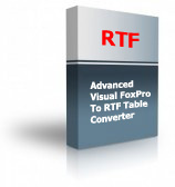 Advanced Visual FoxPro To RTF Table Converter Product Box