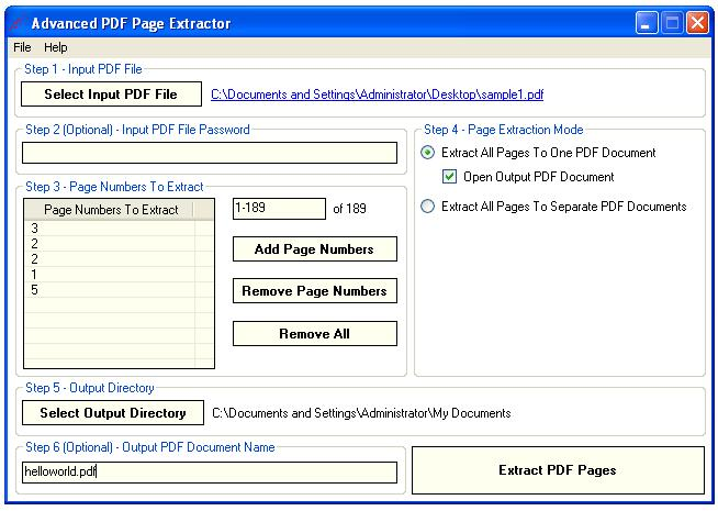 Advanced PDF Page Extractor